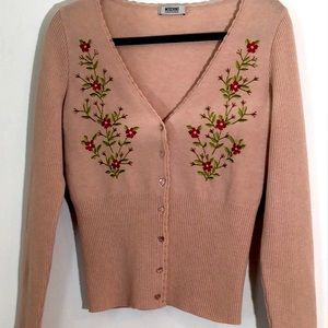 ❤️🔥Moschino cheap and chic embroidered cardigan